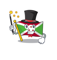 Cartoon character design flag burundi magician vector