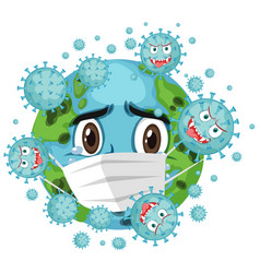 Corona virus global pandemic vector