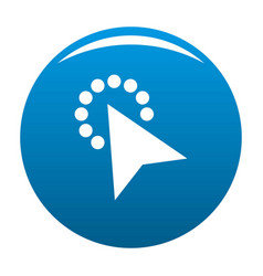 cursor modern click icon blue vector image vector image