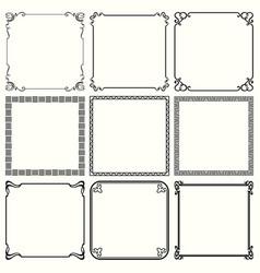 decorative frames set 49 vector image
