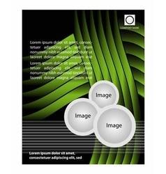 Design of the green flyer whit black vector