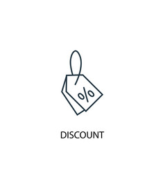 discount concept line icon simple element vector image