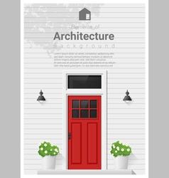 Elements architecture front door background 4 vector