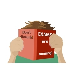 Examination test poster Exam preparation vector image