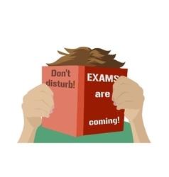 Examination test poster Exam preparation vector