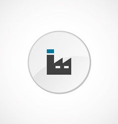 factory icon 2 colored vector image