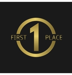 First place symbol vector