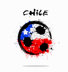 Flag of chile as an abstract soccer ball vector