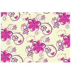 floral pastel design vector image