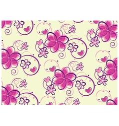floral pastel design vector image vector image