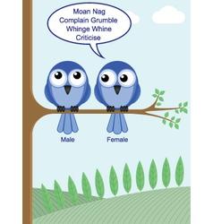 gender of birds vector image vector image