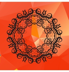 Geometric circle element made of of red vector image