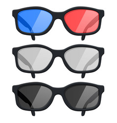 glasses set 3d isolated on vector image