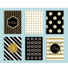 gold white and black gift card template vector image