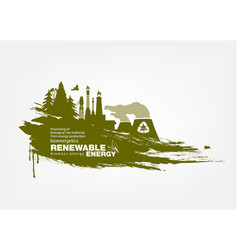Grunge biomass energy renewable energy vector