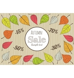 Hand-drawn Autumn Sale Background vector image