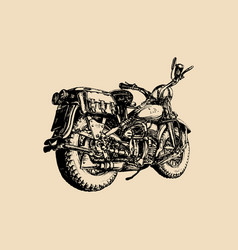 Hand drawn vintage detailed retro bike vector