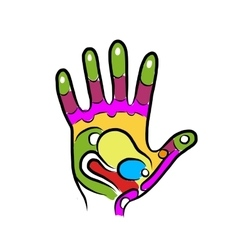 Hand sketch for your design massage reflexology vector