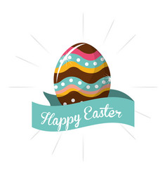 Happy easter day icon vector