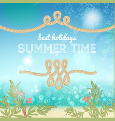 holiday summer background vector image