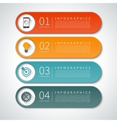 Infographic design banners set background vector image