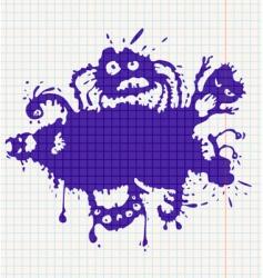 Ink monsters vector