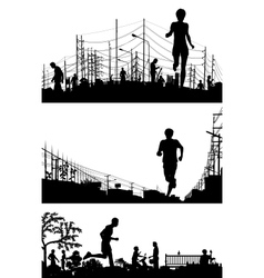 Jogging foregrounds vector image