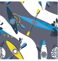 Kayak pattern seamless design graphic vector