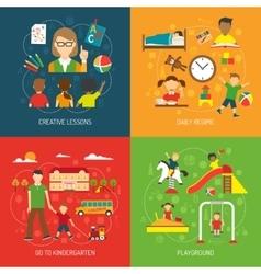 Kindergarten 2x2 Concept vector