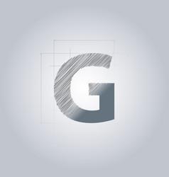 Letter g logo alphabet logotype architectural vector