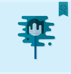 lollipop modern flat icon vector image
