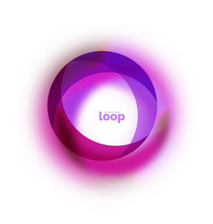 loop circle business icon created with glass vector image