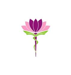 lotus flower medicine pharmacy beauty logo vector image vector image