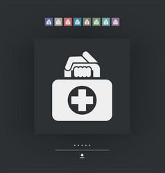 medical bag icon vector image