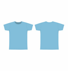 Mens blue t shirt vector