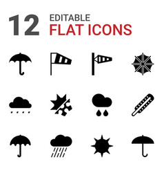 Meteorology icons vector