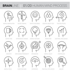 mind process icons 1 vector image