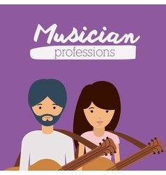 musician profession design vector image