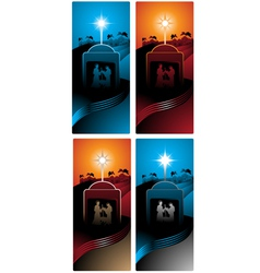 nativity vertical banners vector image