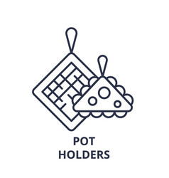 pot holders line icon concept pot holders vector image