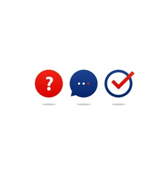 Questionair icon set help desk support tutoring vector image