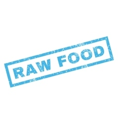 Raw Food Rubber Stamp vector