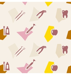 Seamless background with dental symbols vector image