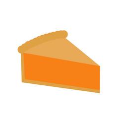 Simple pumpkin pie slice vector