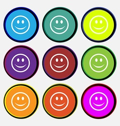 Smile Happy face vector image
