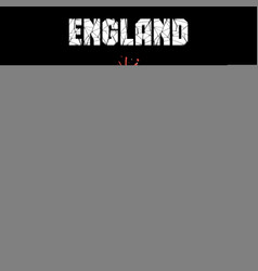 soccer ball in the color of england vector image