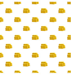 Stack of gold bars pattern vector