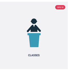 Two color classes icon from people concept vector