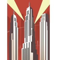 Vertical cartoon city vector image