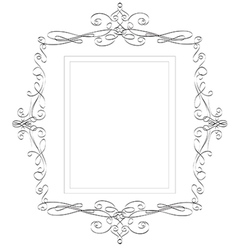 Vintage classic frame - abstract vector